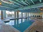Take a dip in the community indoor pool.