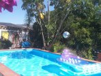 Swimming pool, shared only with 1-3 travellers renting El Apartamento (No children)