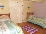Upper Floor Bedroom with 2 Twins