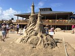 Sand castle festival in south Padre