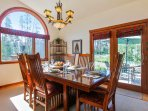 With french doors to outdoor patio seating.