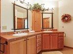 Master bathroom with double vanity.