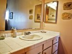 Master bathroom with a stall shower