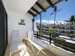 The other side of the Lanai! Relax on the chairs while you watch the ocean!!