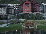 Great view of amenity deck and the Village