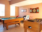 Fully equipped and air conditioned Game Room