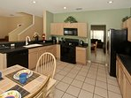 Spacious Eat-In kitchen; stainless refrigerator with ice maker and ice water