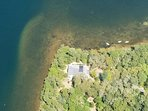 Ariel Photo of 160 Long Pond Drive Harwich Cape Cod- Located directly on the pond!
