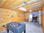 Gameroom with Foosball and Basketball Game