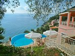 Private swimming pool with panoramic views