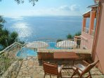 Balcony with panoramic sea views