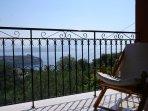 Balcony with panoramic views