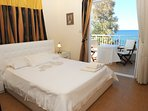 Double bedroom with A/C, en suite bathroom and balcony access
