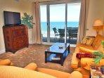 Beach Front Condo! 2/2 at Ocean Reef, Low Floor, Near Pier Park, XL Balcony!