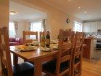Open plan dining, kitchen, lounge