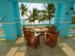 Unobstructed view of the Caribbean Sea on your large veranda!