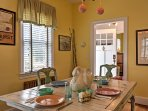 Share memories together at the lovely dining room table over a warm meal.
