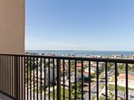 View from the balcony, facing the Laguna Madre