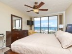 Master bedroom with a view of the Gulf/Beach