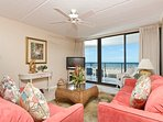 Living room area looking toward the Gulf of Mexico