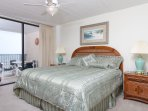 Master bedroom has a recently remodeled handicap friendly walk-in shower with seat and grab bar along with a double...