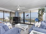Living room w/ ocean view
