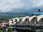 View of Haleakala Mountain from lanai.