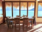 Dining area with 180 degree view.