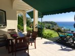 dining balcony and garden
