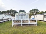 6 Berth caravan with decking book you family holiday with us.