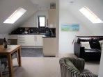 Contemporary open plan design for comfortable living