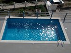 Pool seen from roof terrace