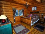 Romantic ambiance of 1st floor master bedroom with Queen bed