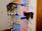 Boot rack drying room