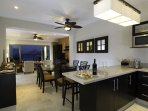 Breakfast bar and dining area