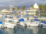 Beautiful marina of Puerto Colon close by