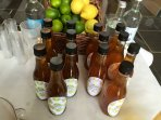 Delicious home made  Lime and lemon cordials.
