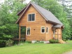Quiet, private cabin with a very large yard located on the Swift River
