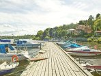 small boat harbour 5-10 minutes walk from the house