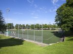 football field and tennis courts in the area