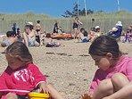 La plage en éte.