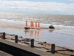 Char à voile à Hauteville sur mer