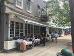 Enjoy outdoor dining on Sag Harbor Main Street