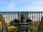 Oceanfront view from your private balcony... just a step away from the sand