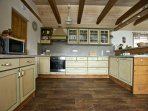Luxuriously equipped rustic kitchen
