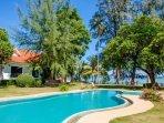 Pool, beach and villa