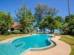 Pool, garden, villa, ocean view