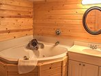 Soak your muscles in the jetted tub before getting ready for bed.