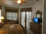 ALL NEW 32' FLAT SCREEN SMART TV, Master Bedroom.