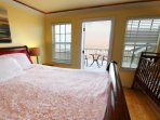 upstairs master bedrm with crib, private bath and private deck with ocean view.